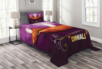 Diwali Religious Festive Bedspread Set