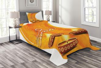 Diwali Candle Celebrate Bedspread Set