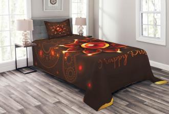 Beams and Diwali Wishes Bedspread Set