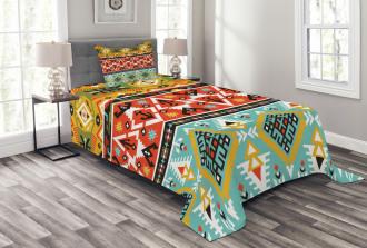 Love and Adventure Aztec Bedspread Set