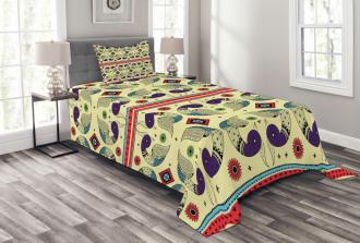 Peacock Pattern Bedspread Set
