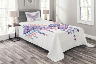 African Geometric Design Bedspread Set