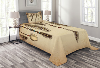 Bohemian Feathers Bedspread Set