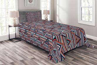 African Ethnic Striped Bedspread Set