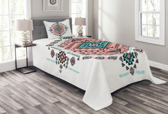 Aztec Native Art Design Bedspread Set