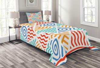 Four Elements Retro Art Bedspread Set
