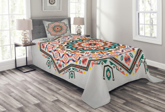 Abstract Sun Aztec Style Bedspread Set