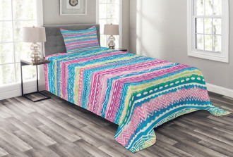 Watercolor Aztec Stripes Bedspread Set