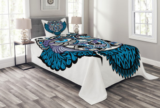 Owl Bird Animal Tattoo Bedspread Set
