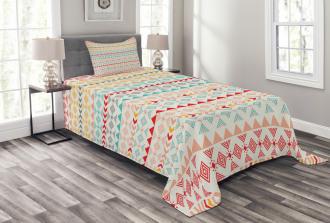 Boho Stripes and Shapes Bedspread Set