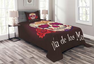 Dia de Los Muertos Bedspread Set
