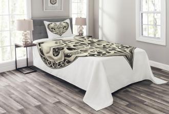 Twin Heart Design Bedspread Set