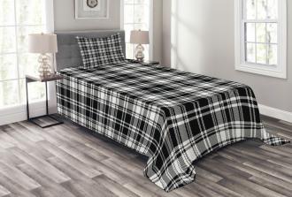 British Tartan Pattern Bedspread Set