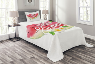 Summer Welcome Quote Bedspread Set