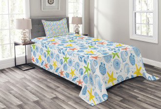 Marine Themed Starfish Bedspread Set