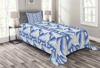 Flower Leaves Porcelain Bedspread Set