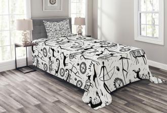 African Pattern Animal Bedspread Set