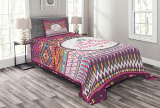 Tribal Striped Geometric Bedspread Set