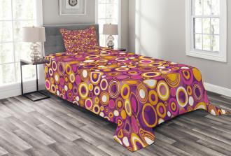 Vintage Circles Round Bedspread Set