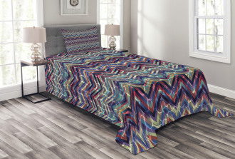 Abstract ZigZag Chevron Bedspread Set
