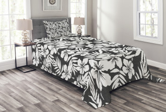 Exotic Hibiscus Flower Bedspread Set