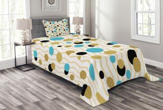 Trippy Geometric Round Bedspread Set
