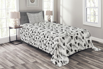 Funny Fish Bone Abstract Bedspread Set