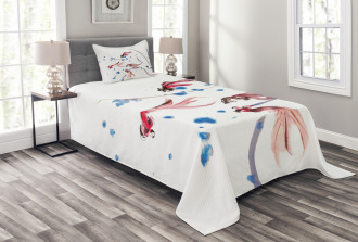 Traditional Ink Painting Bedspread Set