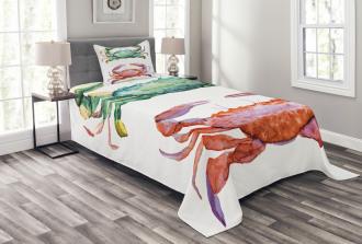 Sea Animals Theme Bedspread Set