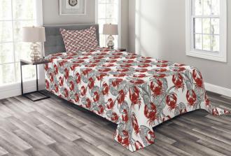 Illustration of Crab Bedspread Set