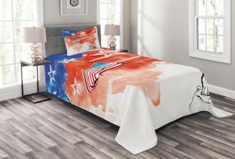 Watercolor Historic Bedspread Set