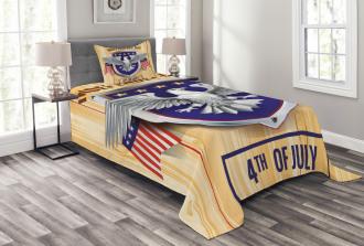 American Bald Eagle Bedspread Set