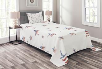 Scattered Stars Bedspread Set