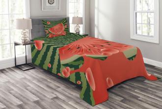 Vegetarian Garden Health Bedspread Set