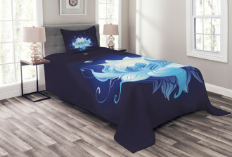 Zen Lotus with Dew Drops Bedspread Set