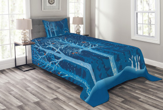 Winter Scenery with Show Bedspread Set