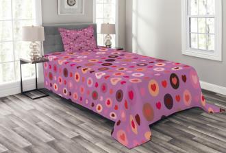 Valentine Romance Love Bedspread Set