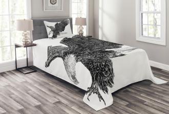 Bald Eagle Swoop Sketchy Bedspread Set