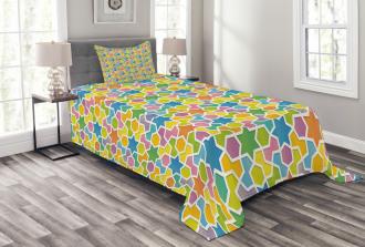 Star and Fractal Shape Bedspread Set
