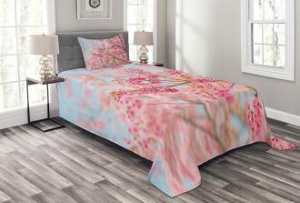 Japanese Sakura Cherry Bedspread Set
