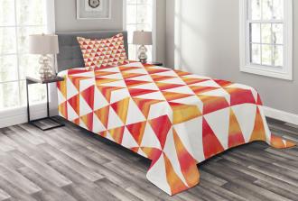 Triangle Geometric Art Bedspread Set
