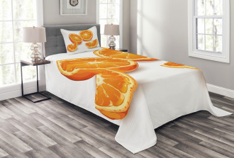 Health Orange Citrus Art Bedspread Set