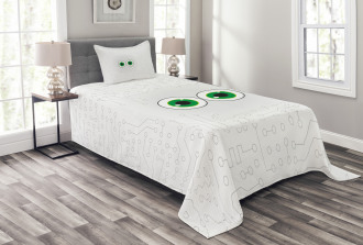 Eye Form Digital Picture Bedspread Set