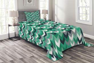 Symmetric Zig Zag Lines Bedspread Set