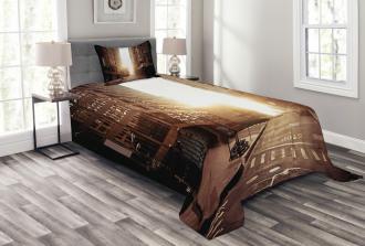 Early Morning Manhattan Bedspread Set