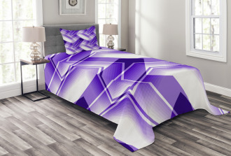 Trippy Digital Shapes Bedspread Set