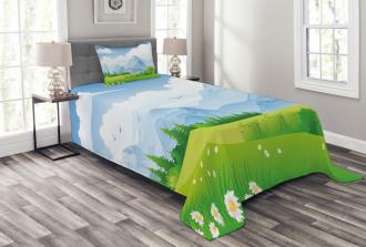 Summer Meadow with Daisy Bedspread Set