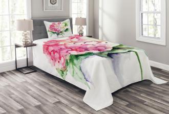 Hydrangea Flower Bouquet Bedspread Set