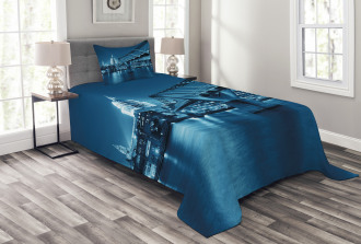 Night London Monument Bedspread Set