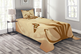 Three Asian Siamese Cats Bedspread Set